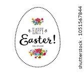 happy easter card. lettering... | Shutterstock .eps vector #1051567844