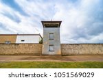 guard tower in gedenkst tte und ... | Shutterstock . vector #1051569029