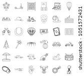 children icons set. outline...   Shutterstock . vector #1051572431
