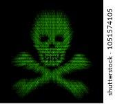 abstract symbol danger cyber... | Shutterstock .eps vector #1051574105