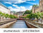 the city center with buildings... | Shutterstock . vector #1051586564