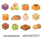 sweets east delicious dessert... | Shutterstock .eps vector #1051597277