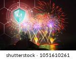 life insurance  shield... | Shutterstock . vector #1051610261