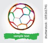 grunge soccer ball. vector... | Shutterstock .eps vector #105161741