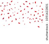 red tiny confetti isolated on... | Shutterstock .eps vector #1051622831