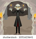 bald evil vampire monster | Shutterstock .eps vector #1051623641