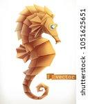 sea horse. 3d vector icon | Shutterstock .eps vector #1051625651