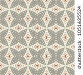 decorative hand drawn seamless...   Shutterstock .eps vector #1051635524