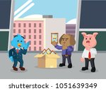 business animal inspecting... | Shutterstock .eps vector #1051639349