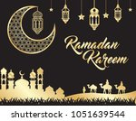 beautiful ramadan kareem... | Shutterstock .eps vector #1051639544