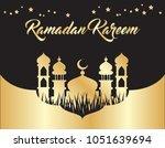beautiful ramadan kareem... | Shutterstock .eps vector #1051639694