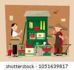 vector illustration of a small... | Shutterstock .eps vector #1051639817