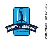 bungee jumping logo with text... | Shutterstock .eps vector #1051643819