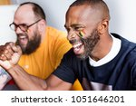 friends cheering world cup with ... | Shutterstock . vector #1051646201