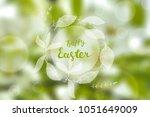 easter greeting card  gentle...   Shutterstock .eps vector #1051649009