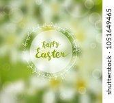 easter greeting card  gentle...   Shutterstock .eps vector #1051649465