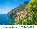 amalfi coast  mediterranean sea ... | Shutterstock . vector #1051654901