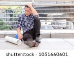 middle aged unhappy asian...   Shutterstock . vector #1051660601