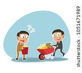 indian businessman pushing... | Shutterstock .eps vector #1051671989