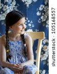 portrait of smilley little girl ... | Shutterstock . vector #105168557