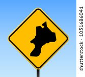 mayreau map road sign. square... | Shutterstock .eps vector #1051686041