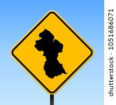 guyana map road sign. square... | Shutterstock .eps vector #1051686071