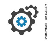 settings icon with settings... | Shutterstock .eps vector #1051688375