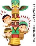 illustration of native american ... | Shutterstock .eps vector #1051698371