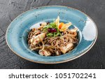 soba noodles with wild... | Shutterstock . vector #1051702241