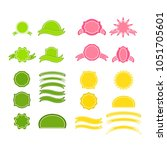 a set of labels. isolated icons.... | Shutterstock .eps vector #1051705601