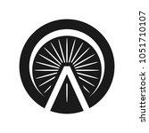 ferrish wheel vector logo.   Shutterstock .eps vector #1051710107