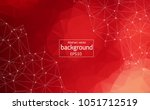 abstract red polygonal space... | Shutterstock .eps vector #1051712519