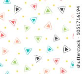 colorful geometric seamless... | Shutterstock .eps vector #1051716194