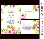 vintage delicate invitation... | Shutterstock . vector #1051721837