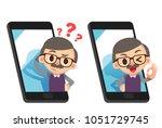 vector illustration of elderly...   Shutterstock .eps vector #1051729745