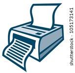 printer | Shutterstock . vector #105173141