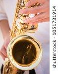 selective focus.hands... | Shutterstock . vector #1051731914