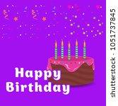 elegent design card of happy... | Shutterstock .eps vector #1051737845