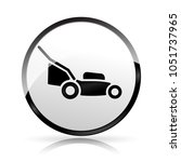 illustration of lawn mower icon ... | Shutterstock .eps vector #1051737965