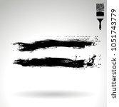 black brush stroke and texture. ... | Shutterstock .eps vector #1051743779
