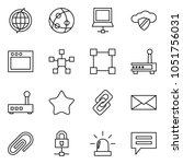 flat vector icon set   globe... | Shutterstock .eps vector #1051756031