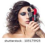 portrait of attractive ... | Shutterstock . vector #105175925