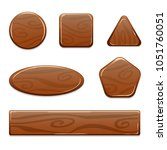 vector wooden icons of... | Shutterstock .eps vector #1051760051