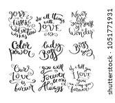 collection of hand written... | Shutterstock .eps vector #1051771931