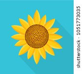 sunny plant icon. flat... | Shutterstock .eps vector #1051773035