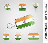 indian flag design with a... | Shutterstock .eps vector #1051788869