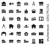 flat vector icon set  ... | Shutterstock .eps vector #1051791761