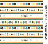 sweet wrapper design   Shutterstock .eps vector #105179501