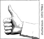 a hand with a thumb up gesture  ... | Shutterstock .eps vector #105179861