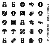 flat vector icon set   rubber... | Shutterstock .eps vector #1051798871